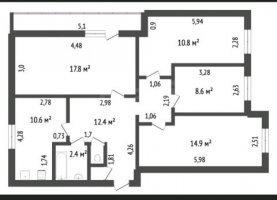 От хозяина - фото. Купить четырехкомнатную квартиру от хозяина без посредников, Ишим, Ялуторовская улица - фото.
