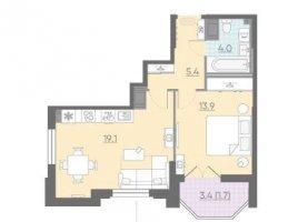 Продам однокомнатную квартиру, 44.1 м2, Санкт-Петербург, Невский район